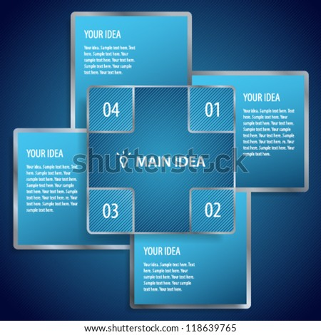 Conceptual vector illustration of blue banners with place for your text. Usable for different business design - stock vector