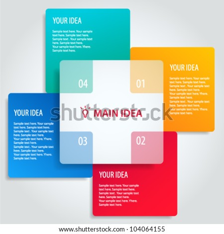 Conceptual vector illustration of colorful banners with place for your text. Usable for different business design - stock vector
