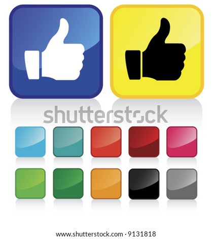 Conceptual vector illustration of thumb up sign. check my gallery for more. proposed colors - stock vector