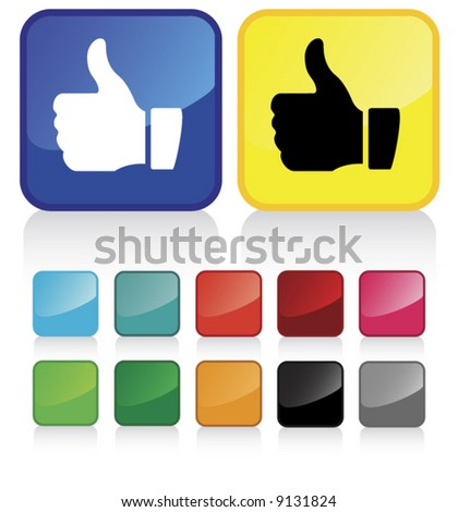 Conceptual vector illustration of thumb up sign. check my gallery for more. proposed colors