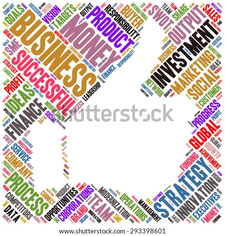 Conceptual vector of cloud containing words related to business Also available in raster.