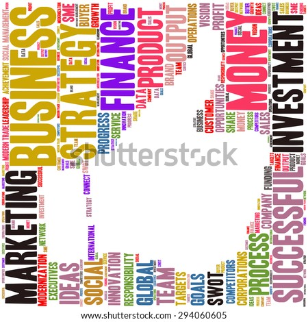 Conceptual vector of cloud containing words related to business Also available in raster. - stock vector