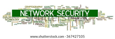 Conceptual vector of tag cloud containing words related to internet, data, web and network security, data protection, security policy and privacy - stock vector