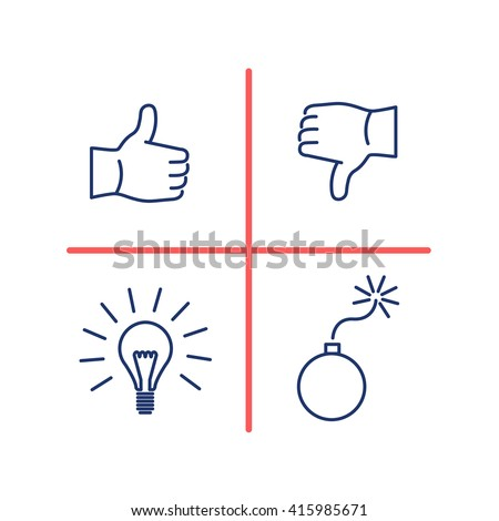 Conceptual vector swot analysis icon | modern flat design marketing and business linear illustration and infographic concept red and blue on white background