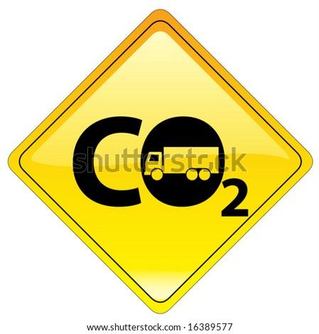 conceptual warning sign - global warning 1/5 - vector file - stock vector