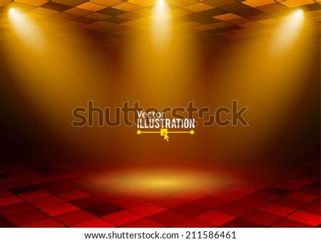 Concert lighting. Vector illustration. - stock vector