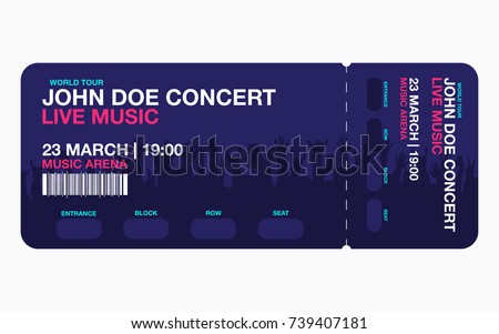 Concert Ticket Template Concert Party Festival Stock Vector HD ...