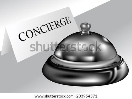 concierge - stock vector