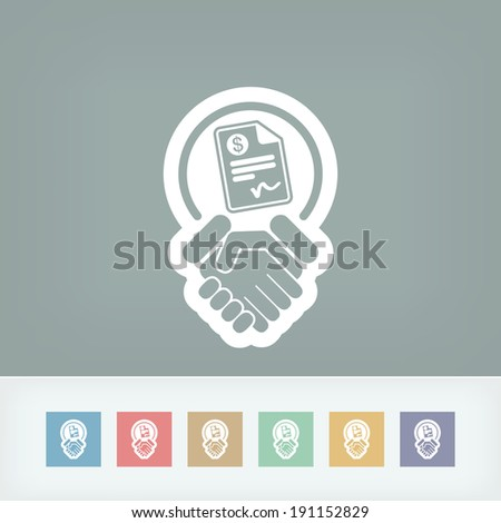 Conciliation payment icon - stock vector