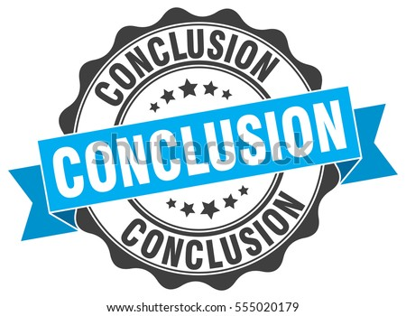 Conclusion stock images royalty free images vectors shutterstock conclusion stamp sticker seal round grunge vintage ribbon conclusion sign thecheapjerseys Choice Image