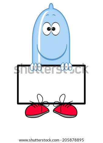 Condom with frame, vector. - stock vector