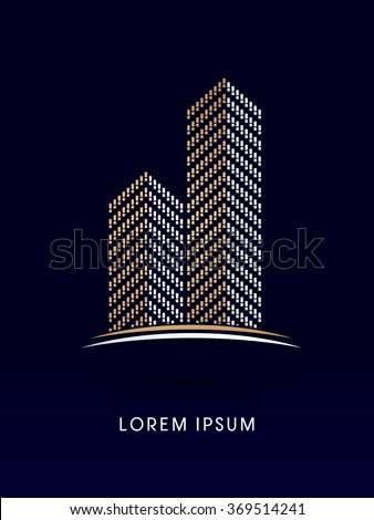 Condominium Abstract construction, design graphic vector - stock vector