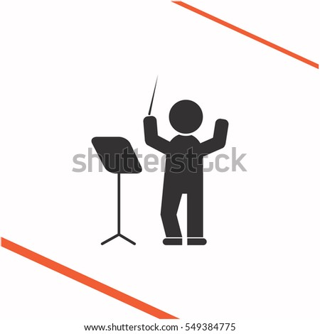 Conductor vector grey icon on white background. Conductor symbol stock bitmap illustration. Business picture.