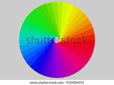 Cone colors palette - stock vector