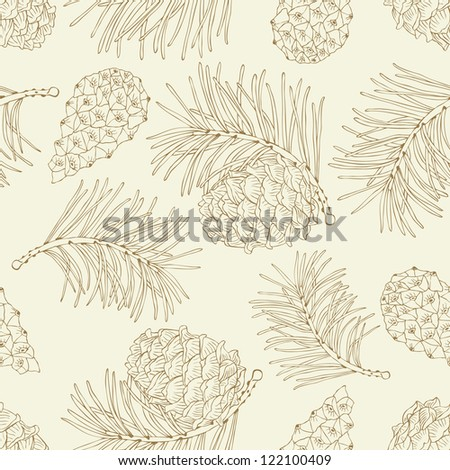 cone seamless pattern - stock vector