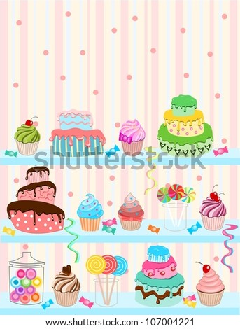 Confectionery - stock vector