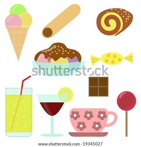 Confectionery - clip-art - stock vector