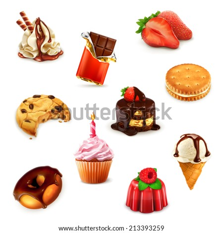Confectionery, vector set 1 - stock vector