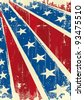 Confederate poster . Background of Confederate poster with a grunge texture for you - stock photo