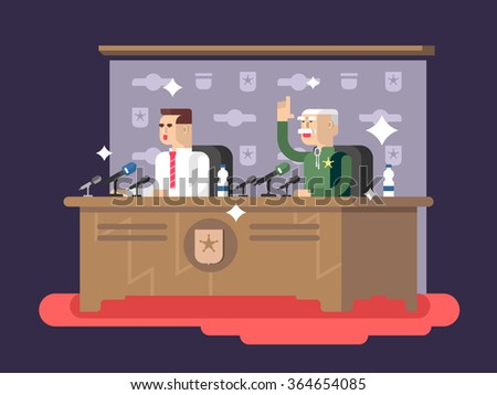 Conference design concept - stock vector