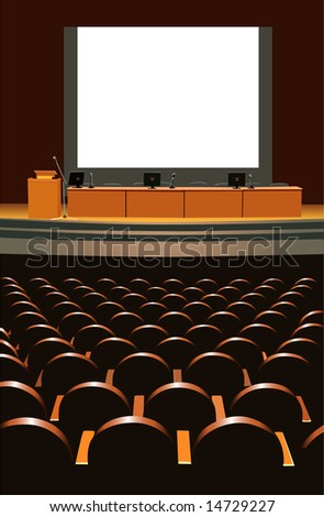 conference hall - stock vector