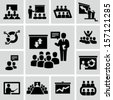 Conference icons - stock