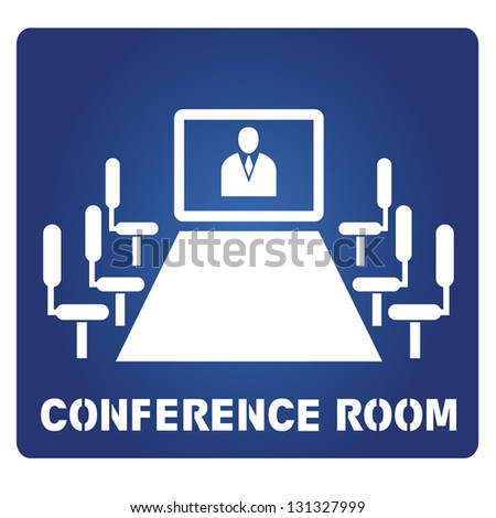conference room - stock vector