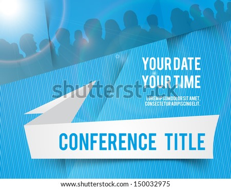 Conference tamplate illustration with space for your texts - stock vector