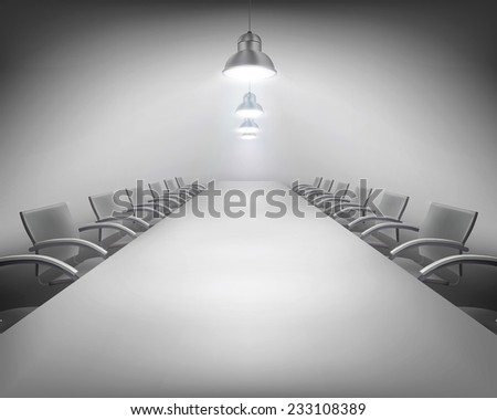 Conference. Vector illustration. - stock vector