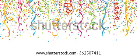 confetti and streamers - stock vector