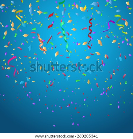 Confetti background ideal for Christmas or birthdays - stock vector