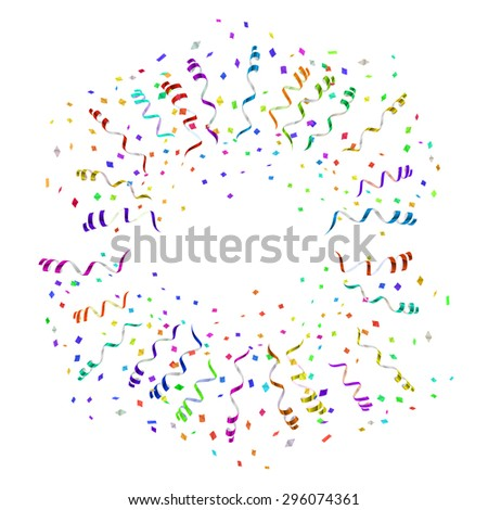 confetti blast in different directions vector illustration - stock vector