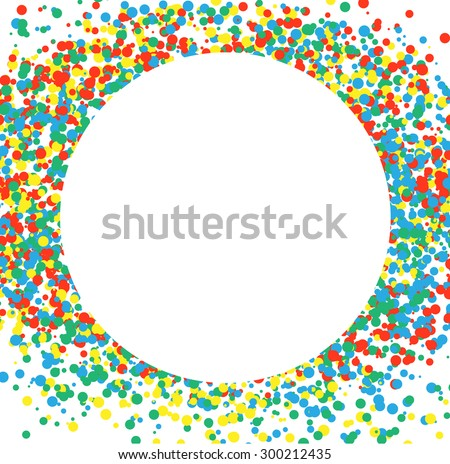 Confetti multicolored circle. Celebratory Background. Illustration Vector EPS10 - stock vector