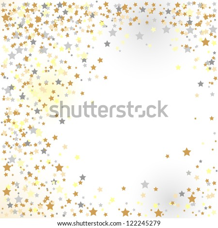 confetti, New Year's celebration - vector background - stock vector