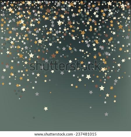 Confetti, New Year's celebration - vector background - stock vector