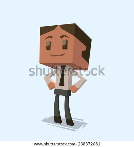 confident Businessman, vector - stock vector