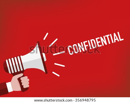 CONFIDENTIAL - stock vector