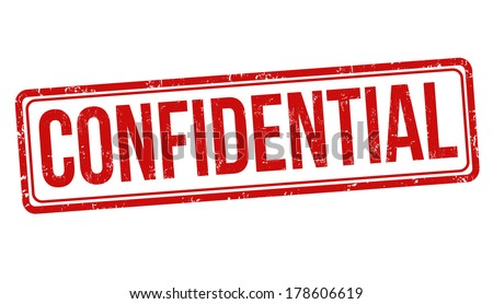 Confidential grunge rubber stamp on white, vector illustration - stock vector