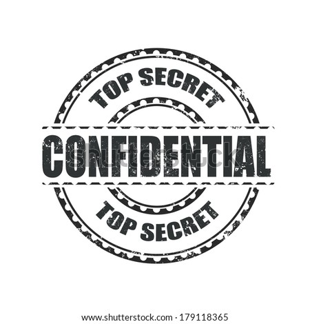 confidential grunge stamp whit on vector illustration - stock vector