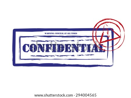 Confidential Ink Stamps Isolated. Editable Clip Art. - stock vector