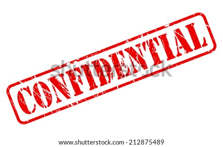 Confidential red stamp text on white - stock vector