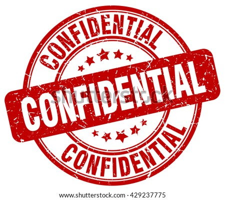 confidential. stamp. red round grunge isolated confidential sign.