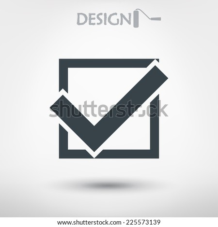 confirm icons; vector illustration. Flat design style - stock vector