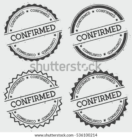 Confirmed Insignia Stamp Isolated On White Stock Photo Photo