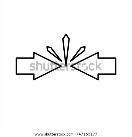 Conflict Interest Business Concept Arrows Red Stock Vector Royalty