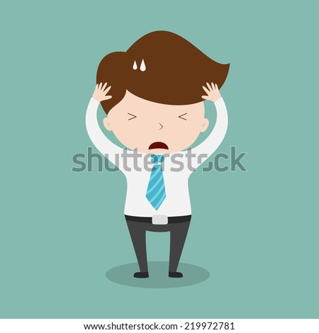 Confused businessman,Vector EPS 10 - stock vector