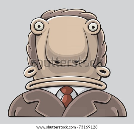 Confused Businessman with wide Mouth and inquiring Look - stock vector