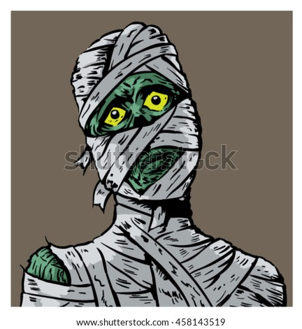 Confused Mummy - stock vector