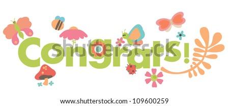 Congrats card - stock vector