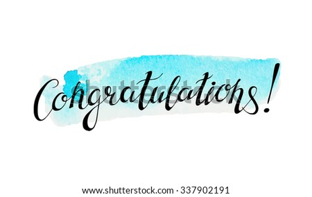 Congratulations banner stock images royalty free images vectors congratulation banner with abstract watercolor background pronofoot35fo Image collections